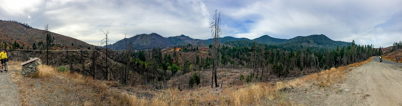 Panorama in the 2013 Douglas Complex Fire area.