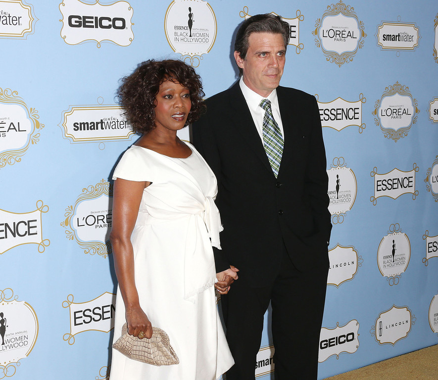 . Actress Alfre Woodard (L) and Roderick Spencer attend the Sixth Annual ESSENCE Black Women In Hollywood Awards Luncheon at the Beverly Hills Hotel on February 21, 2013 in Beverly Hills, California.  (Photo by Frederick M. Brown/Getty Images)