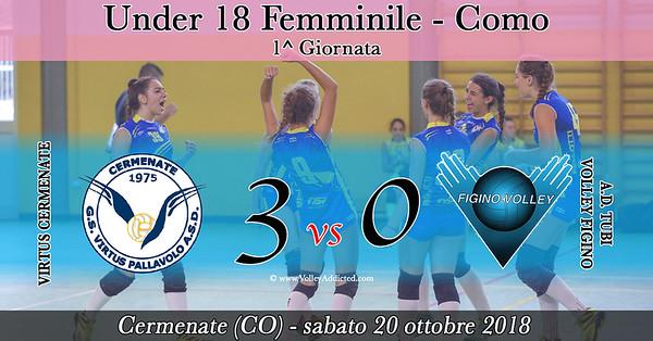 CO-U18f: 1^ Virtus Cermenate - Amandla Figino Volley