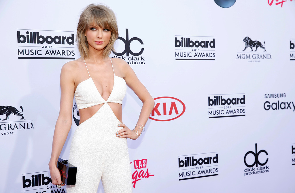 . Taylor Swift arrives at the Billboard Music Awards at the MGM Grand Garden Arena on Sunday, May 17, 2015, in Las Vegas. (Photo by Eric Jamison/Invision/AP)