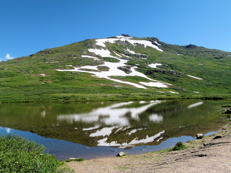Pond and reflection at Independence Pass 12,000 feet