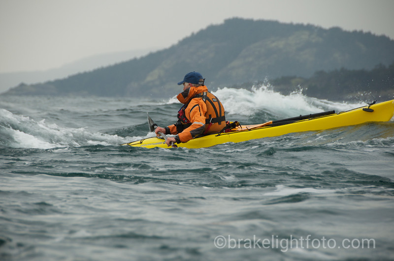 Kayaker in Tide Rip