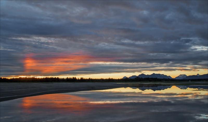 Sunset Reflection at Samon River