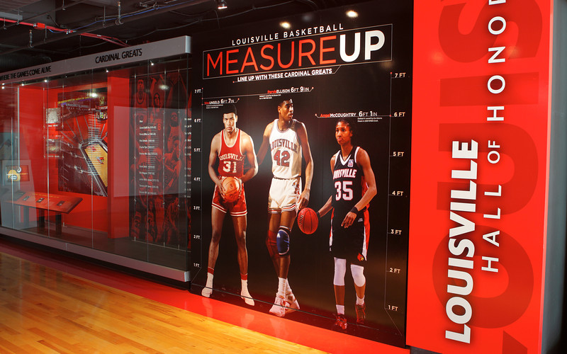 "LOUISVILLE BASKETBALL MUSEUM GRAPHIC ""MEASURE UP"" | design by David Klotz"