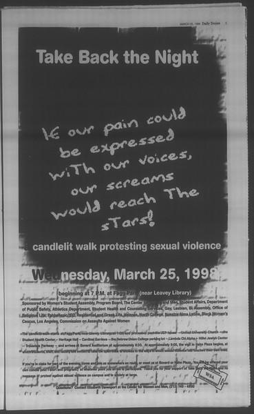 Daily Trojan, Vol. 133, No. 44, March 25, 1998