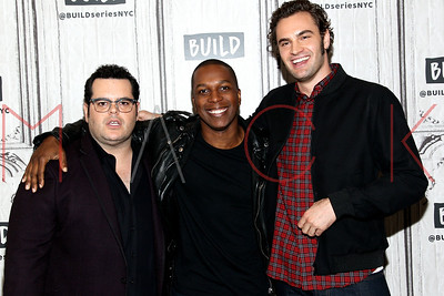 """NEW YORK, NY - NOVEMBER 06:  Build presents Josh Gad, Leslie Odom Jr. and Tom Bateman discussing """"Murder On The Orient Express"""" at Build Studio."""