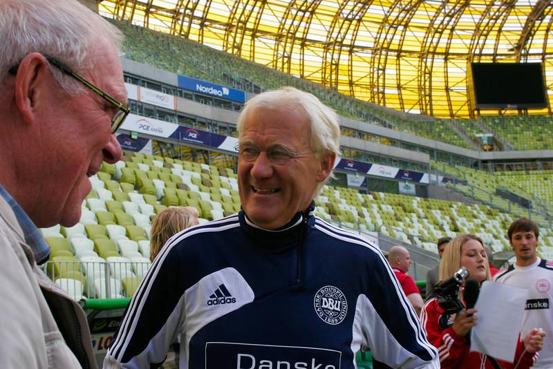 Morten Olsen, head coach of the Danish national football team, Gdansk, Poland