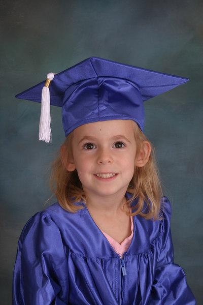 Julie graduates...from preschool?