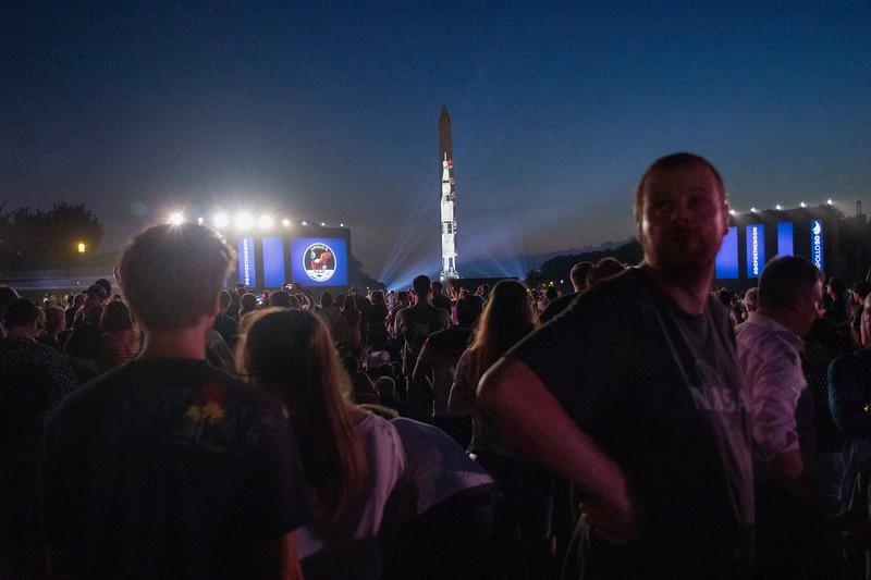Apollo 11 on the Washington Monument