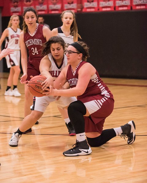 2019 JV Girls Basketball:  Hall-Dale vs Richmond
