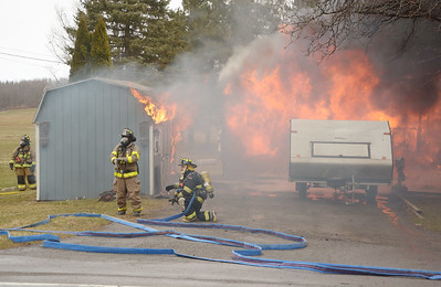 Hopewell Structure Fire on Route 488