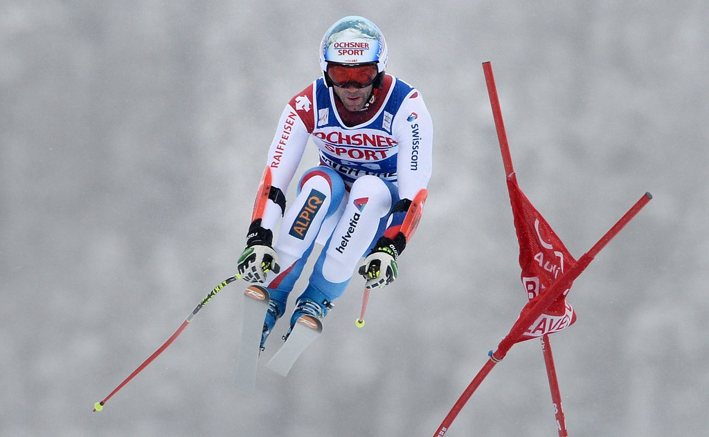 . Didier Defago, of Switzerland, in action during the Men\'s Super-G race at the FIS Alpine Skiing World Cup in Beaver Creek, Colorado, USA, 07 December 2013.  EPA/JUSTIN LANE