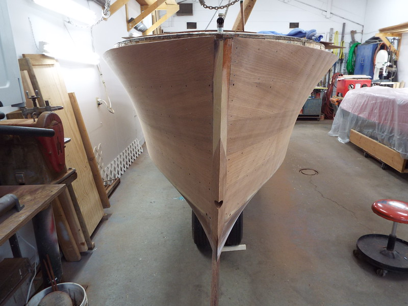 Bow before being hand sanded.