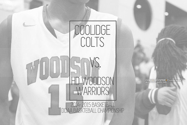 DCIAA 2015 Boys Baskteball Championship - Coolidge vs. HD Woodosn