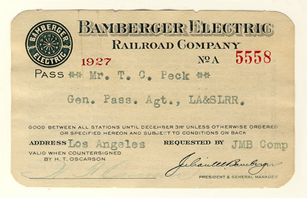 Bamberger Electric Railroad 1927