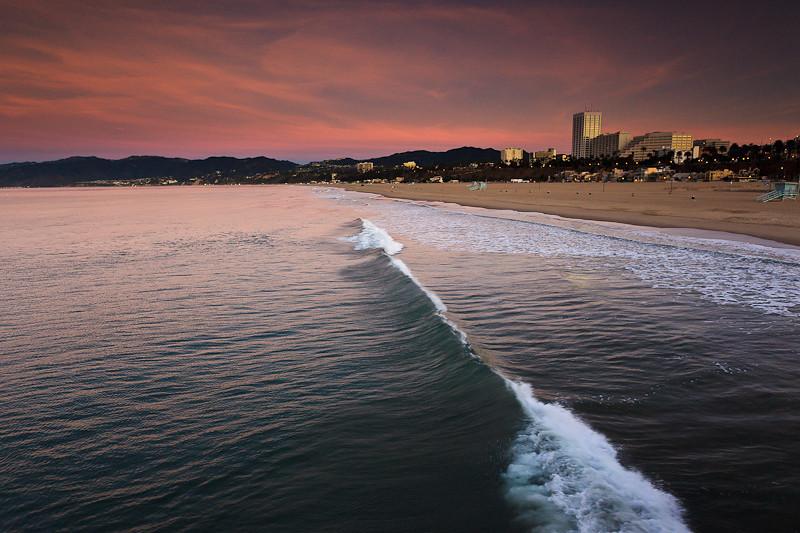 January 13 - Sunrise on Santa Monica pier