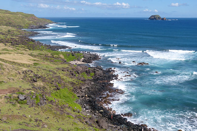 East Molokai Shoreline with Turtle Island