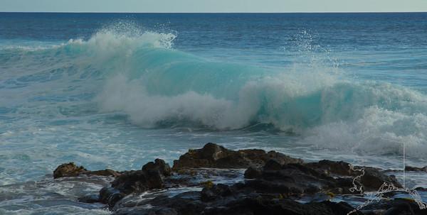 Kona Waves and Sun Set