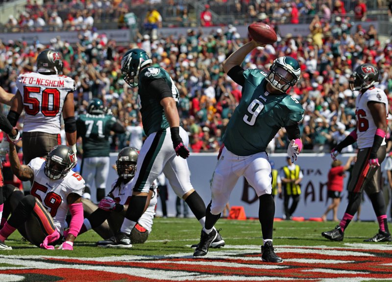 . <p><b> Cowboys at Eagles (-2½):</b>  <p>Philadelphia QB Nick Foles, who accounted for four touchdowns last week, will get his second start Sunday because Michael Vick�s hamstring is still not 100 percent. Vick is expected to return to coach Chip Kelly�s starting lineup when Hell freezes over. <p>Pick: <b>Eagles by 7</b> <p>    (Daniel Wallace/Tampa Bay Times/MCT)  <p><b>BYES</b><p> <p><b>Saints, Raiders </b>  <br>  <p><b>RECORD</b> <p><b>Week 6:</b> Straight up 11-4, vs. spread 8-7  <p><b>Total:</b> Straight up 59-33, vs. spread 41-48-3   <br><p> Kevin Cusick talks fantasy football, and whatever else comes up, with Bob Sansevere and �The Superstar� Mike Morris on Thursdays on Sports Radio 105 The Ticket. Follow him at <a href=\'http://twitter.com/theloopnow\'>twitter.com/theloopnow</a>.