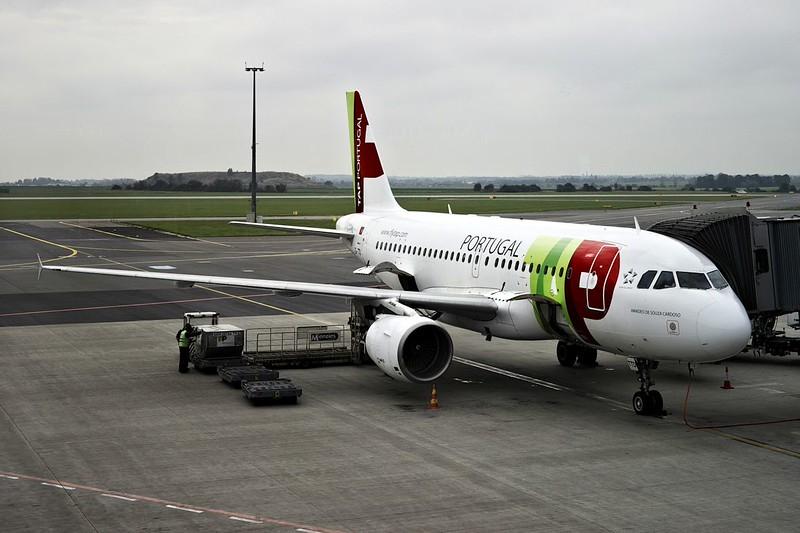 Airbus A319 společnosti TAP, přímá linka do Lisabonu