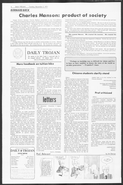 Daily Trojan, Vol. 64, No. 29, November 02, 1971