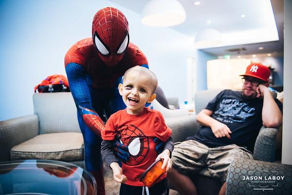 Team Damian Meets Spiderman