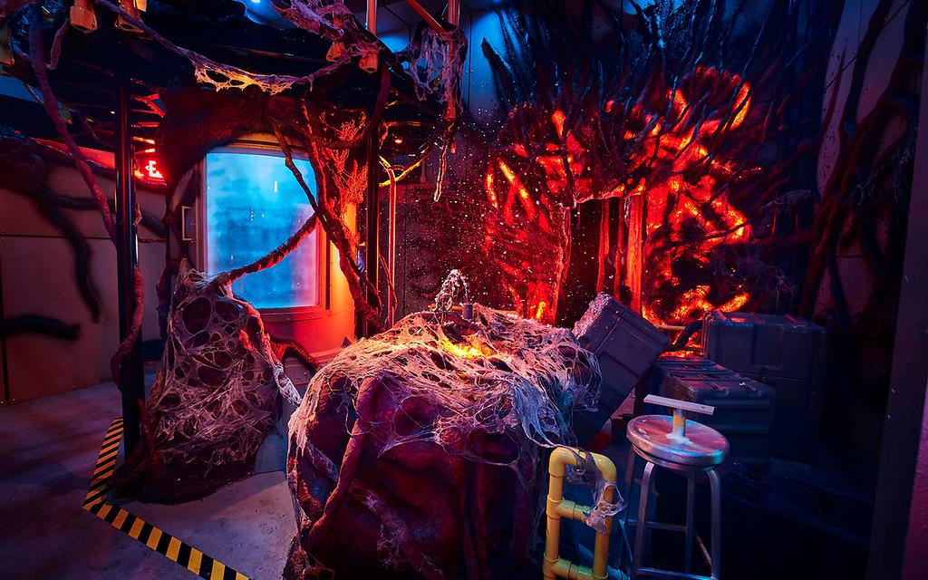 Universal Studios Singapore Halloween Horror Nights 8 Before Dark update - STRANGER THINGS haunted house / Hawkins LAB portal