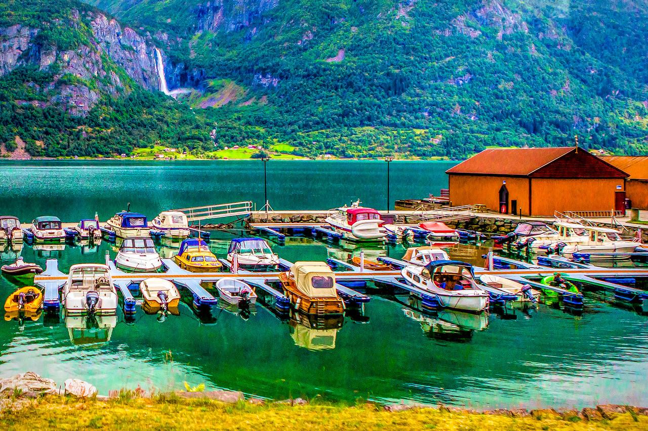 北欧风光,湖边生活