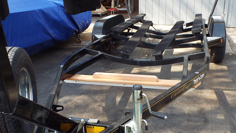 New trailer cross frame built and fit.