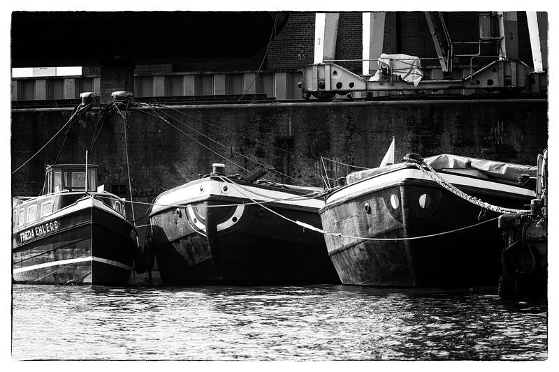 Schuten im Museumshafen Hansahafen