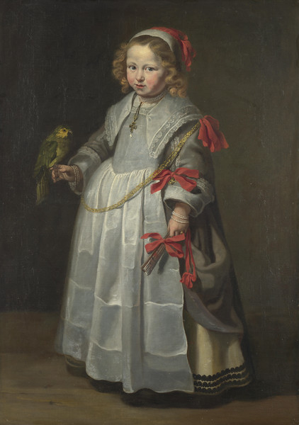 Portrait of a Girl with a Parrot