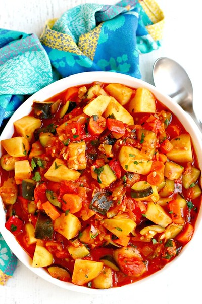 Zucchini Stew with Potatoes