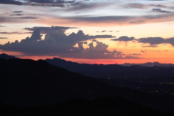 Phoenix South Mountain Sunset - September 2013