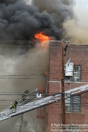 6 Alarm Apt Building Fire - 112 Gregory Ave, Passaic, NJ - 4/15/17