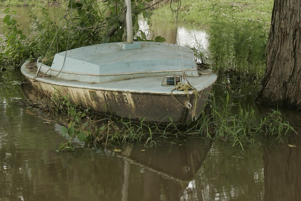 Sailboat of Rising Des Moines River