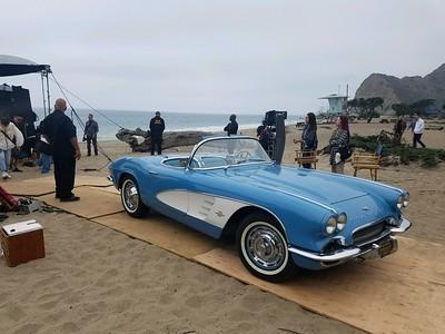 61 Corvette Blue & white