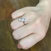 1.38ctw Antique Old European Cut Diamond 3-Stone Ring 10
