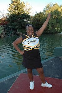 Bulldog cheerleaders 8th grade Nov 2006