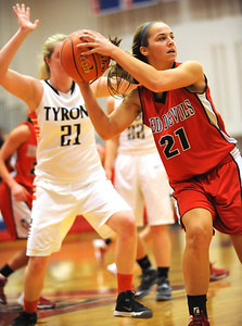 Central Cambria girls v Tyrone girls hoops, 2/19/14