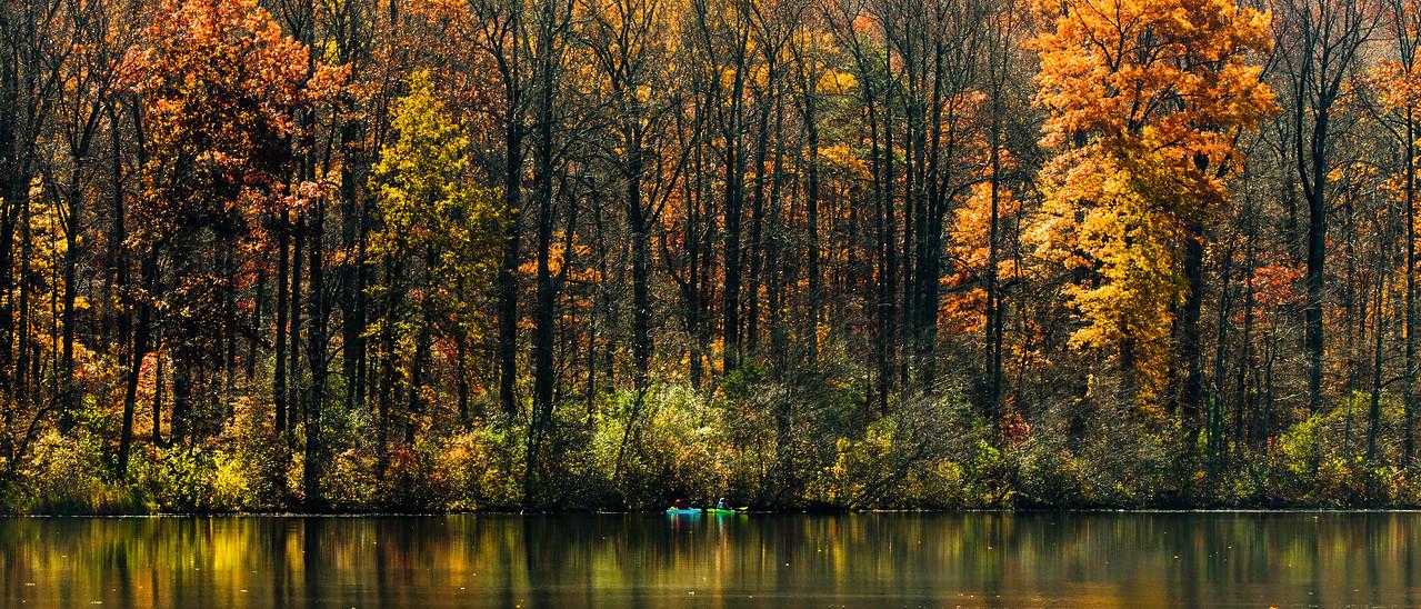 宾州 French Creek State Park,秋色秋景