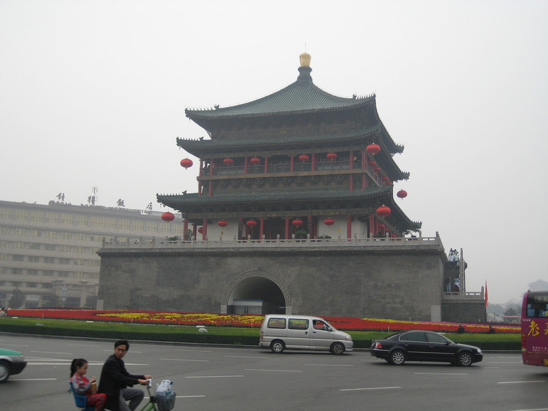 The Bell Tower in Xi'an, China.
