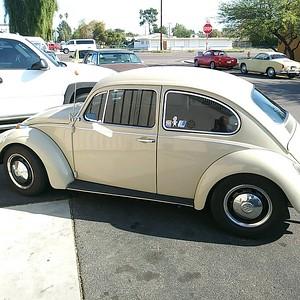 Tan 70s VW Bug