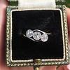 .80ctw Antique English 3-Stone Peruzzi Cut Diamond Ring 6