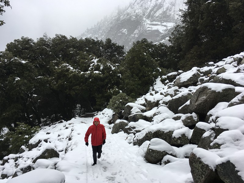 Melting snow run is not as easy as it looks