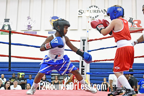 Bout #8:  Javezz Shabazz, Blue Gloves, Cleveland vs Henry Hayes, Red Gloves, Akron, 75 Lbs