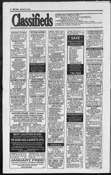 Daily Trojan, Vol. 119, No. 5, January 20, 1993