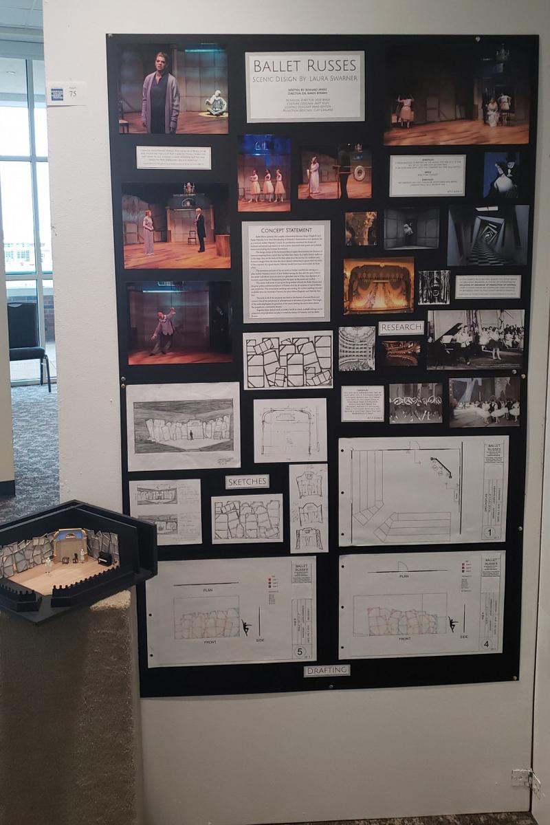 Theatre student's research board.