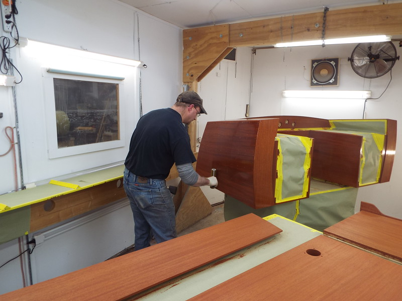 Another view of the sealer being applied.