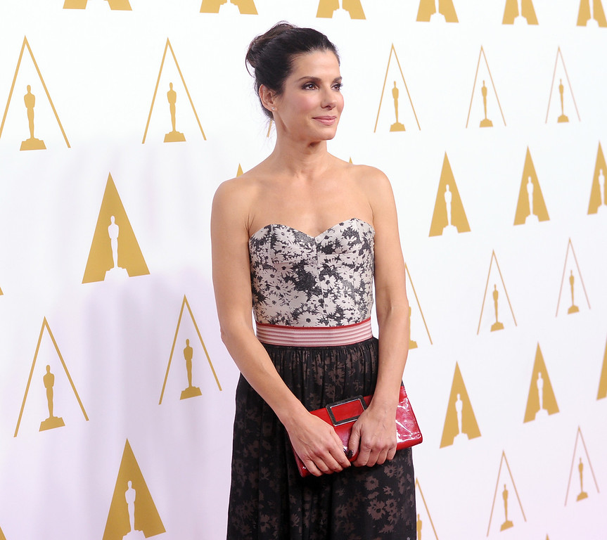 ". 2014 Academy Award Nominee for Best Actress in a Leading Role: Sandra Bullock in ""Gravity.\"" (Photo by Kevin Winter/Getty Images)"