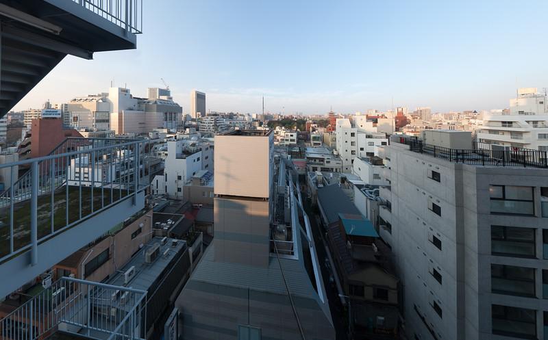 View of Asakusa, Tokyo from Asakusa Central Hotel window